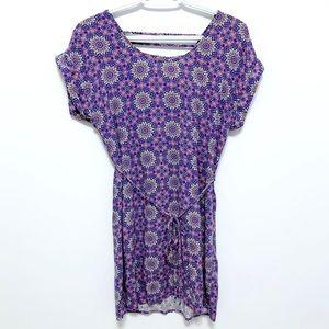 Forever 21 Purple Patterned Dress